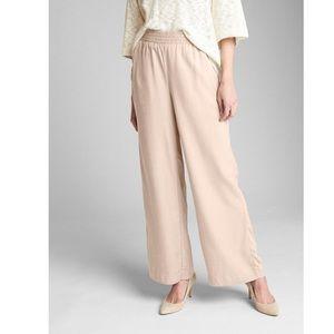 Gap Wide Leg Smocked Pants Shell Peach